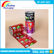 Custom Printed PET / Al / PE Laminated Plastic Roll Film for Food Packaging under Competitive Price