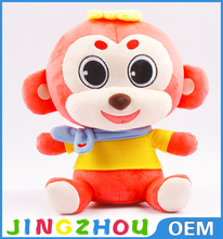 20cm sitting embroidered face customize stuffed monkey plush toys adult toys for women
