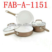 White Wholesale Aluminum Korea Ceramic Cookware