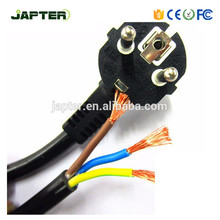 High quality European standard AC power cord 3 plug Power Cord Cable 1M 1.2M 1.5M 1.8M 2M AC power cord 3 hole shape