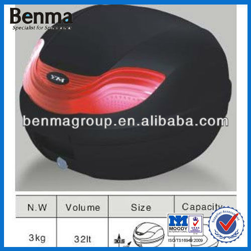 32L Motorcycle Tail Case ,Hot Sell Black Motorbike Tail Case