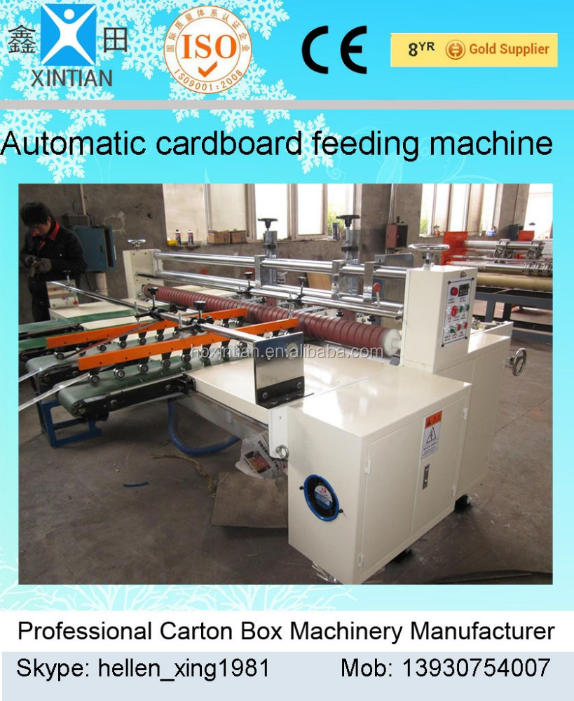 Automatic paperboard feeding machine/ automatic paper sheet feeder/corrugated carton box machine