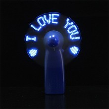 SF-1002-24,2017 Hot Selling China Wholesale Handheld portable message Flashing LED mini Fan