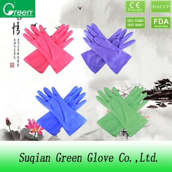 colorful pvc glove house cleaning gloves with high quality