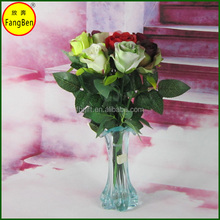 faux fabric rose flowers single stem for wall and table home decoration(FB016173)