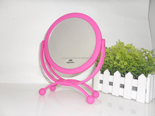 Tabletop standing makeup mirror