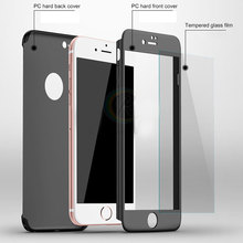 Manufacture Ultra-thin PC cover case with tempered glass for iPhone 5 5s se case 360