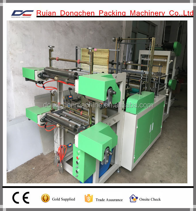 Plastic biodegradable garbage bag on roll making machine