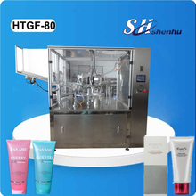 HTGF-80 High efficiency new products automatic facial cleanser/cream/plastic tube filling sealing machine for daily chemical
