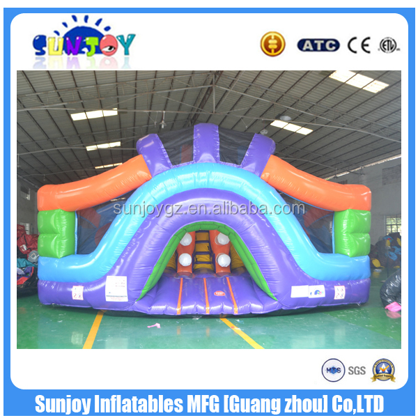 2016 new design hot sale Commercial Blue inflatable Amusement Park Fun City