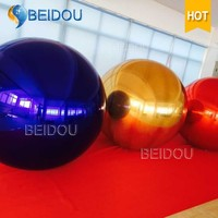 Large Mirror Balls Decorative Plastic Disco Inflatable Mirror Ball