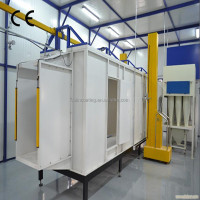 L-191 industrial automatic electrostatic powder coating line/booth/oven with pre-treatment unit