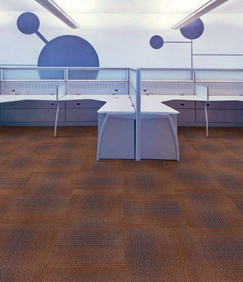 Multi level loop jacquard plain carpet tiles 50x50