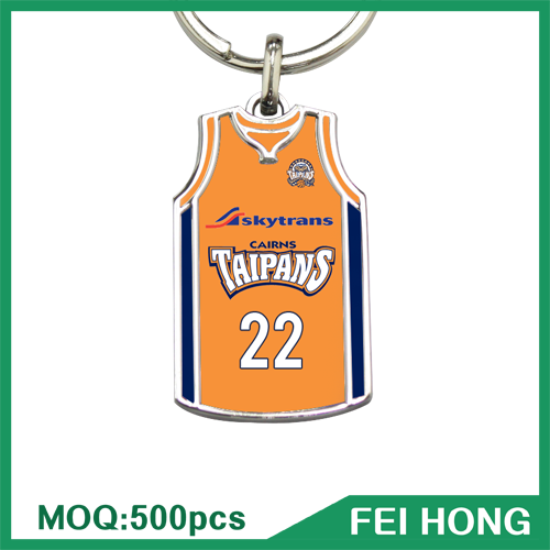 High Quality Key Chain With Logo Easy Fashion Souvernir Basketball Jersey Key Ring