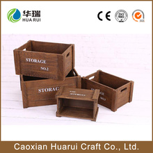 Wholesale cheap mini vintage decorative wooden fruit crates