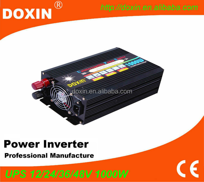 Sine wave doxin 1000w inverter charger ups online 12v 220v for home appliance