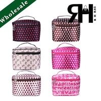 Large size Cheap Cosmetic bags and cases with mirror nylon travel cosmetic bag