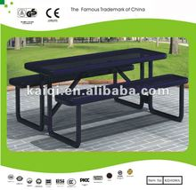 Wholesale table with bench for kid rest- 6ft*6ft*2.5ft black