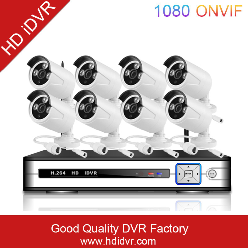 2016 hot sale ! HDIDVR Wireless WIFI p2p NVR KIT 8CHannel NVR kit Security IP Camera Low Lux 8 CHannel NVR kit