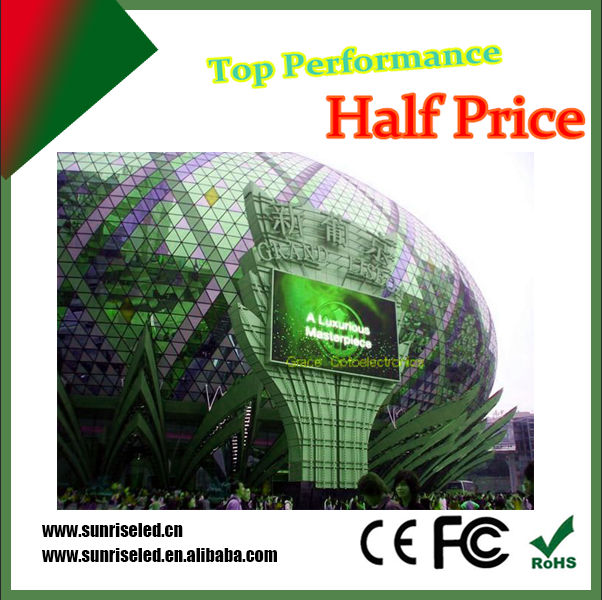 Incredibly ultra slim outdoor led display p6 p8 p10 for commercial advertising, stage background concert Beethoven