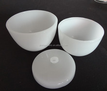 High temperature fused silica quartz crucible