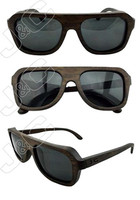 2015 best selling and fashionable cheap price half-bamboo sunglasses with polarized lens and bamboo whosales case