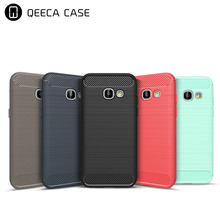 For Samsung Galaxy A320 A520 A720 Carbon Fiber Case, Brushed TPU Shockproof Silicone Case For Samsung Galaxy A7 A5 A3 2017