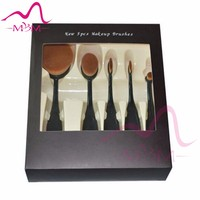 Hot !OEM Oval Head Cosmetic Brush Set custom branding beauty and makeup