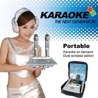 Portable Karaoke Machine,Wireless karaoke system,KTV,Midi karaoke player,Support HDD,SD CARD