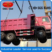 China Coal 6x4 self loading sand dump truck for sale