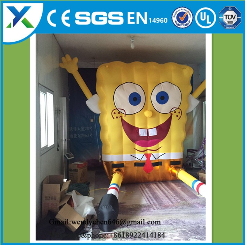 2017 Factory direct funny inflatable spongebob mascot costumes for sale