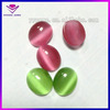Ruby oval shape synthetic cat eye stone for jewelry making