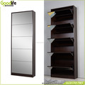 home furniture full length mirror shoe cabinet with 5 drawers