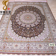 Factory price! 9x12 persian styles handmade Tabriz silk carpet, large carpet