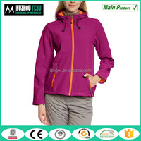 2016 Sports Breathable Design Mountain Wear Women's Hooded Softshell Jacket