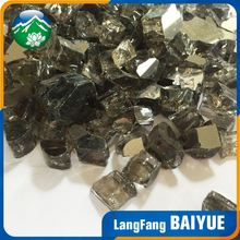 Crushed colored tempered gas fireplace glass chips