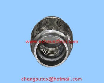 51X100mm exhaust flex Section Coupling with interlocked pipes