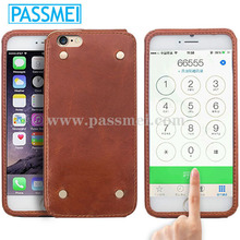 Hot selling genuine leather phone case,phone case for iphone 6