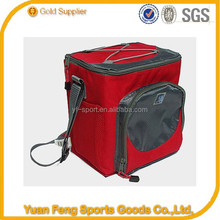Polyester wine insulated cooler bag for food and drinks insulated cooler bag fabric