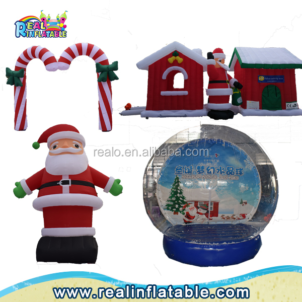 2017 customized outdoor or indoor christmas decorations ,santa claus inflatable,santa outhouse christmas inflatable decoration