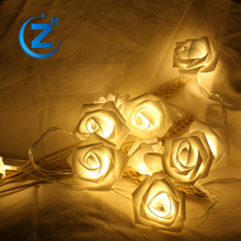 Single shorten free samples bulk order solar micro flower bulb cover fairy fading decorative led christmas festoon string light