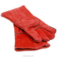 2016 New Customized Red Cow Leather Welding Industry Protective Working Safety Gloves
