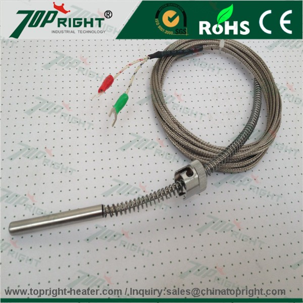 type K/J/E/N/T/R/S/B thermocouple with fiberglass/silicone/telfon/PVC thermocouple compensation/extension cable/wire