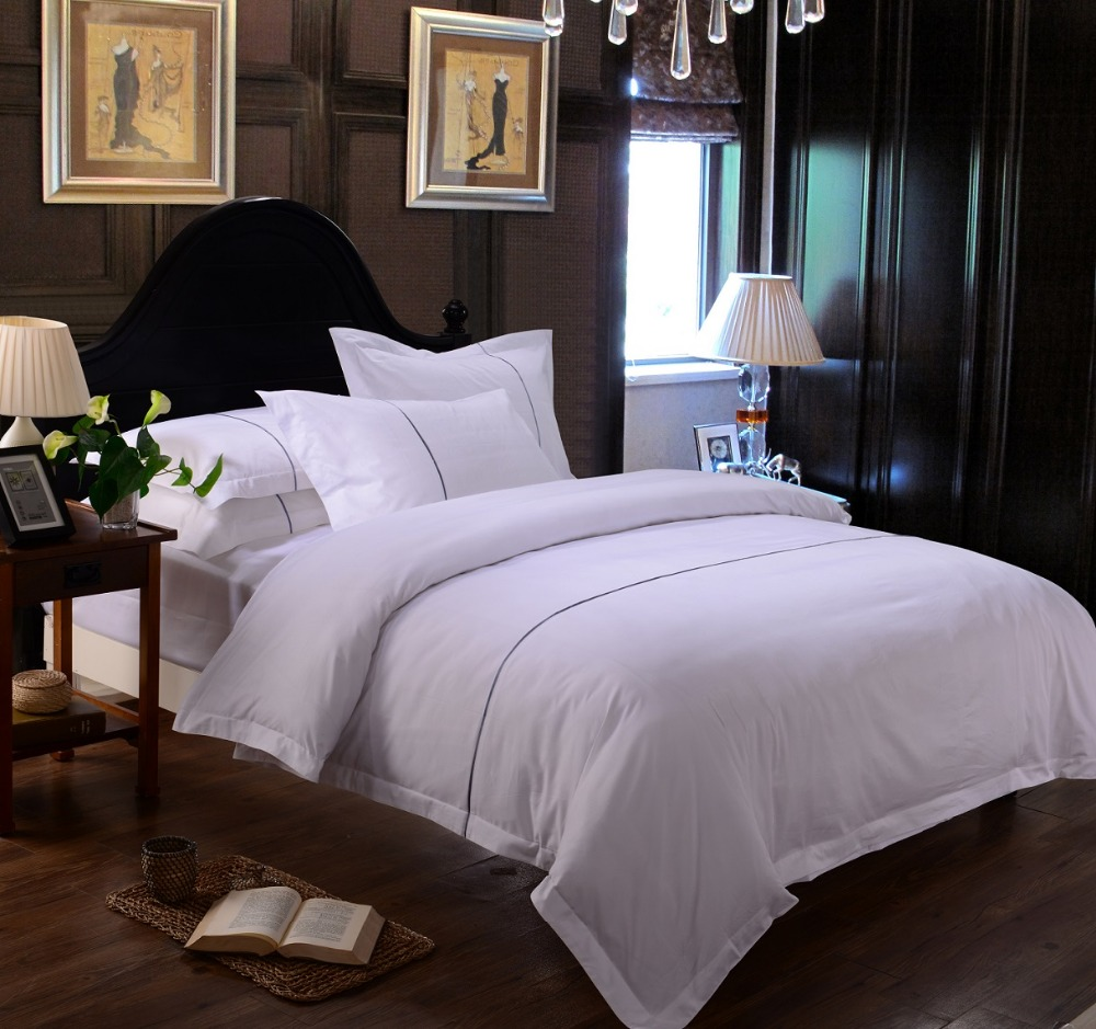 Wholesale white satin patchwork flanger luruxy hotel bed comforter cover