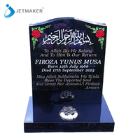 Indian Black Granite Upright Headstone For
