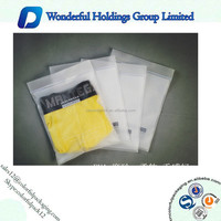 Three seal side bags clothing with ziplock plastic clear bags