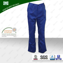 Wholesale Oeko-Tex100 washable 100% cotton blue fire proof workwear trousers