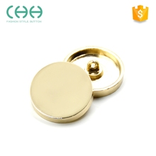 Supplier direct eco-friendly zinc alloy durable round metal button