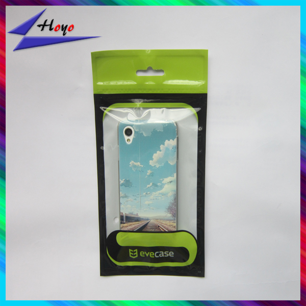 custom printed resealable poly bag for mobile case printing