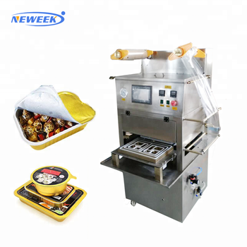 NEWEEK vegetable fruit meat product map tray sealing nitrogen vacuum packaging machine free shipping for sale